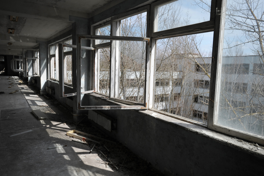 Здание школы в Припяти. Фото: Игорь Хомич